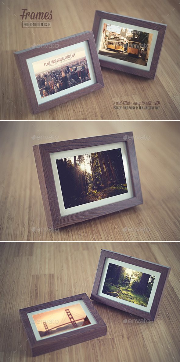 Frame - Realistic Mock Up - Print Product Mock-Ups