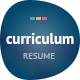 Curriculum: Responsive Resume / One-Page Portfolio Nulled