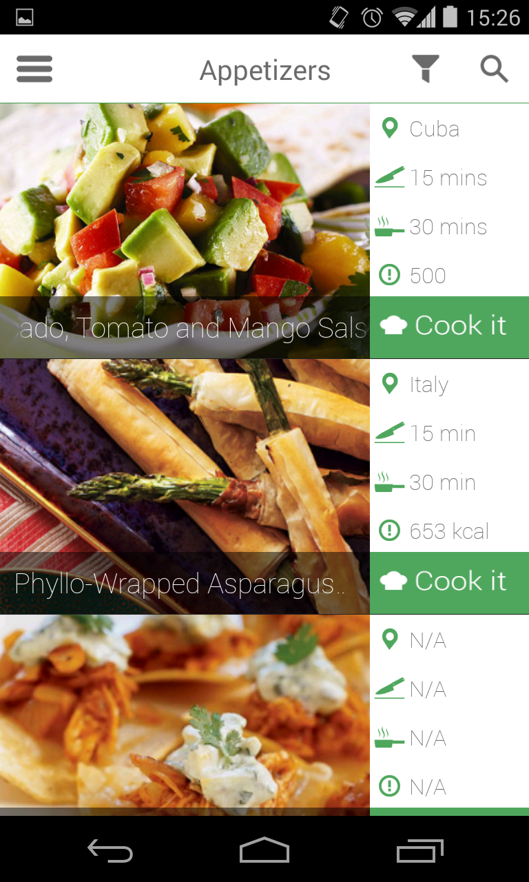 Android recipe app by dmbteam codecanyon android recipe app forumfinder Image collections