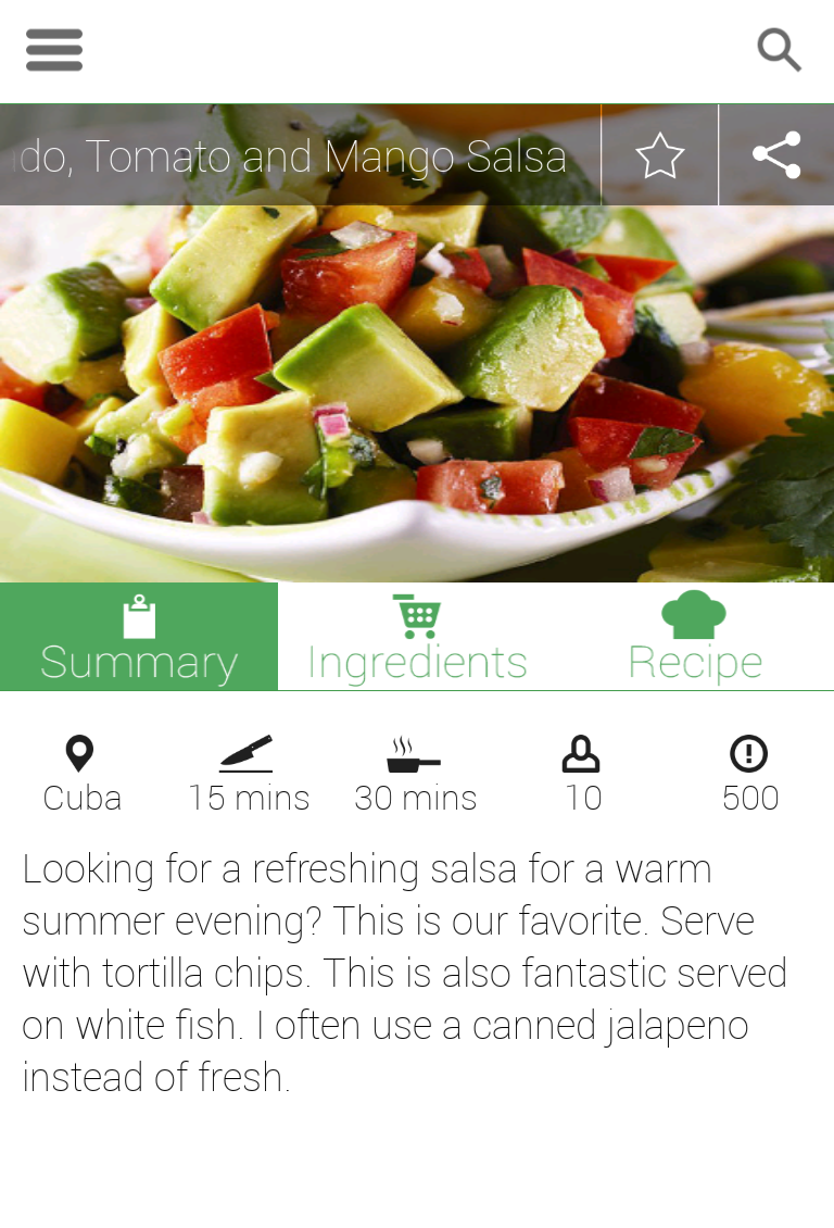 Android recipe app by dmbteam codecanyon android recipe app forumfinder Gallery