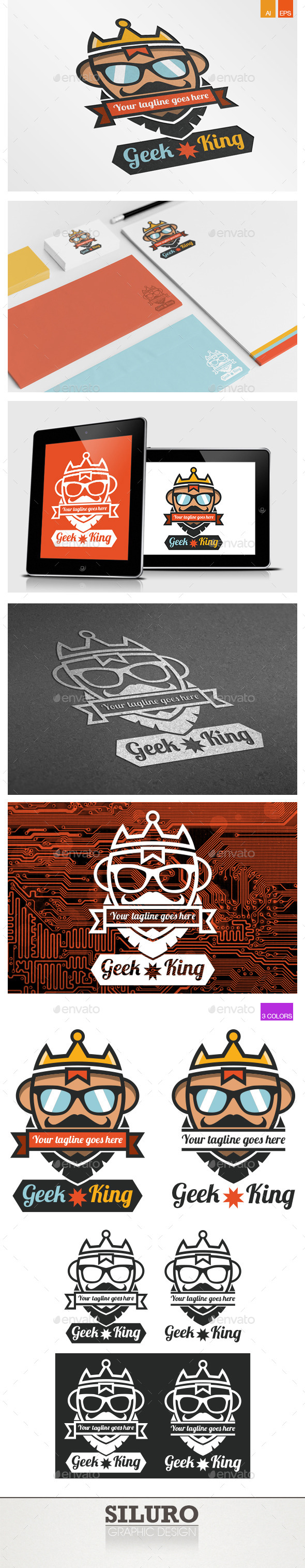 Geek King Logo - Humans Logo Templates