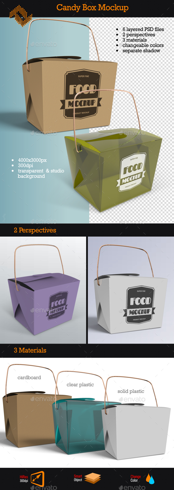 Candy Box Mockup - Food and Drink Packaging