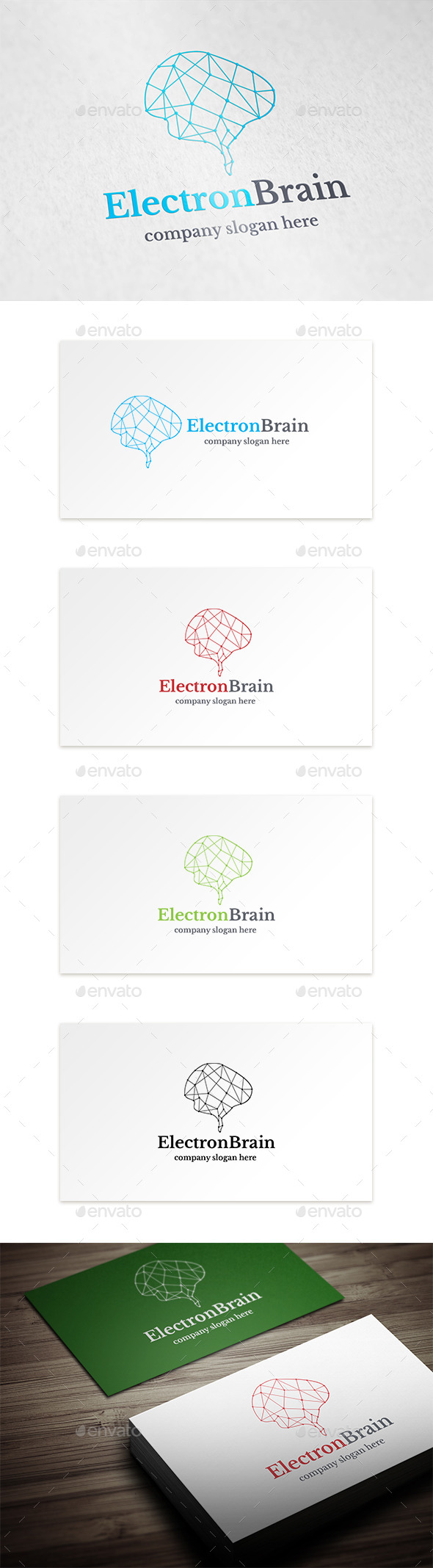 Electron Brain - Objects Logo Templates