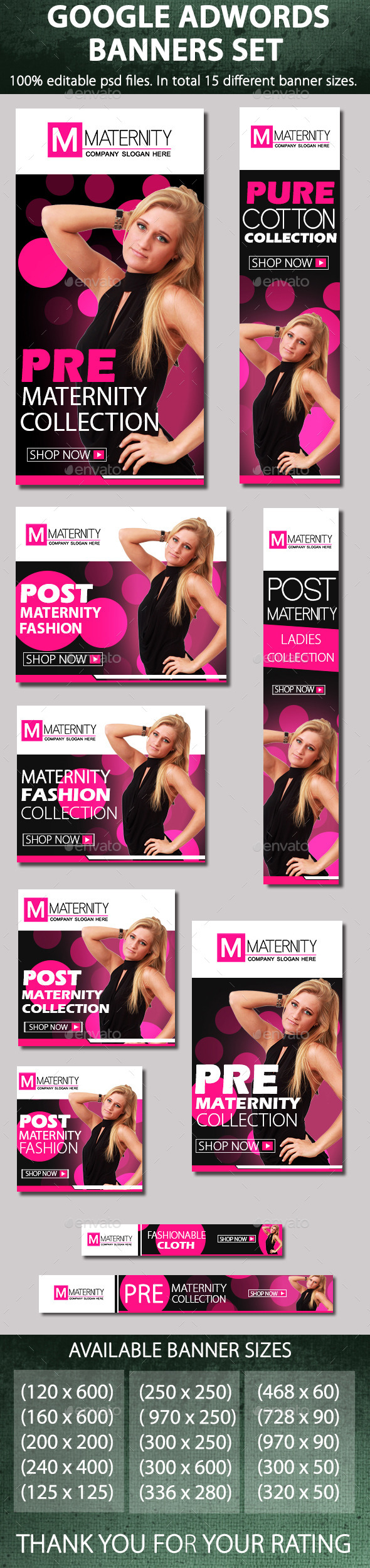 Maternity & fashion banners - Banners & Ads Web Elements