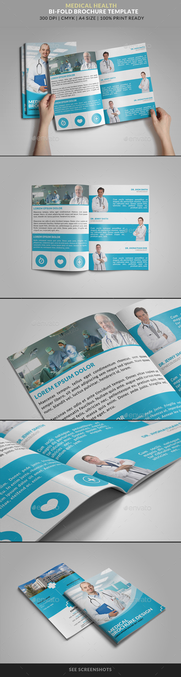 Medical Health Doctor Hospital Bifold Brochure - Corporate Brochures