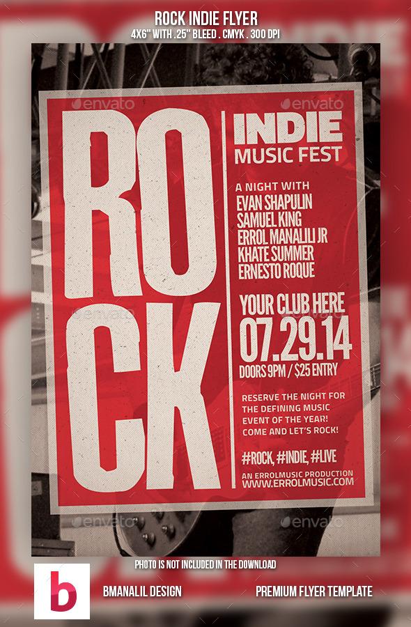 Rock Indie Flyer - Concerts Events