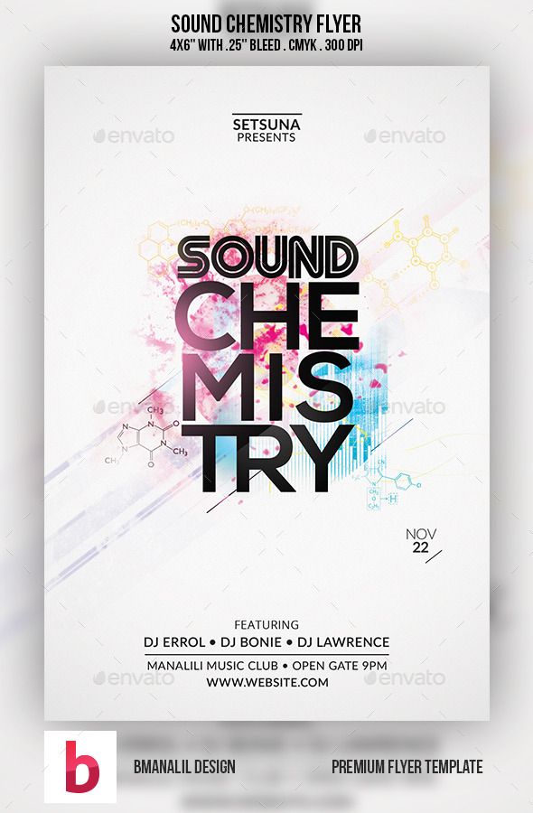 Sound Chemistry Flyer - Clubs & Parties Events
