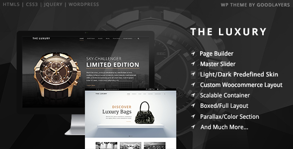 The Luxury – Dark/Light Responsive WordPress Theme