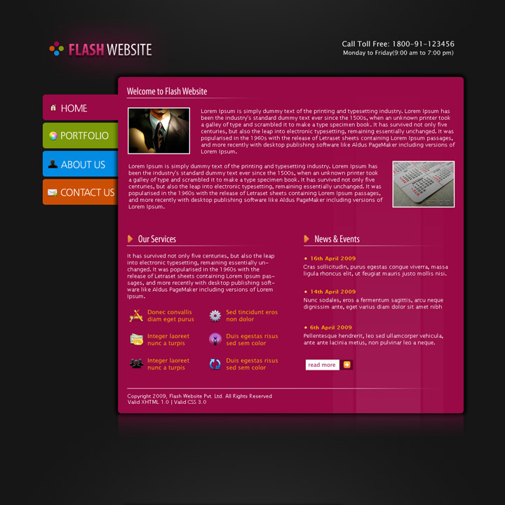 Free Download Flash Website Template Nulled Latest Version