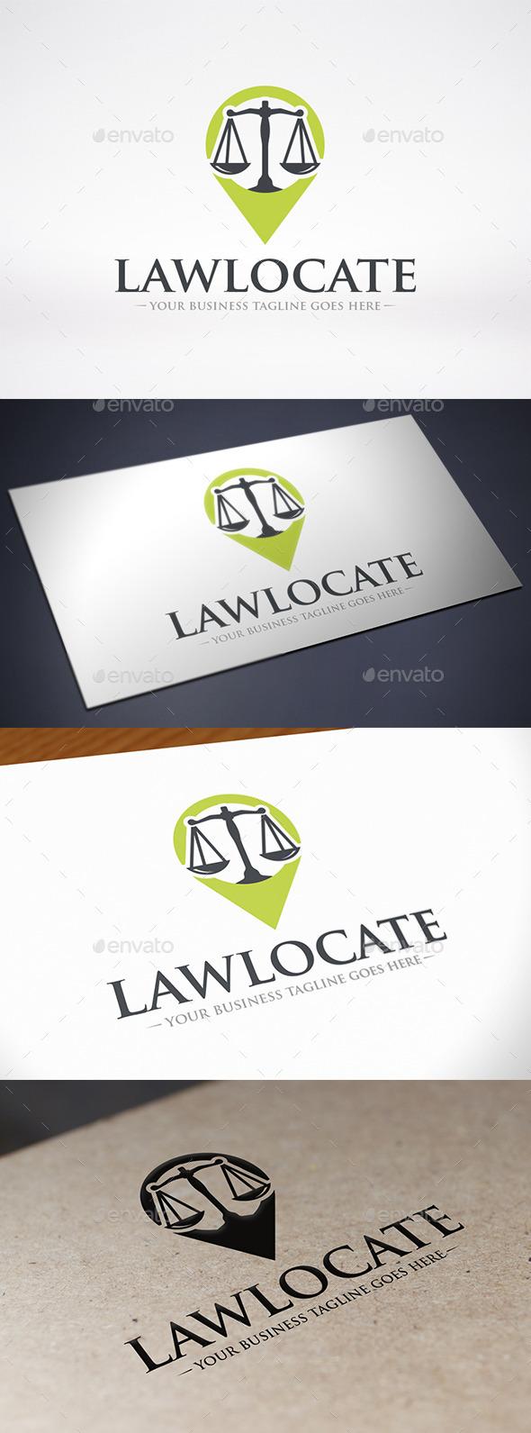 Law Locator Logo Template - Symbols Logo Templates