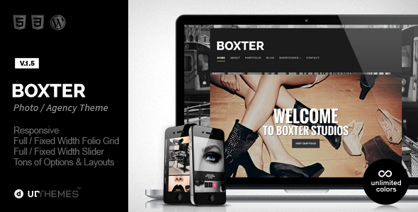 Boxter – Creative Responsive WordPress Theme