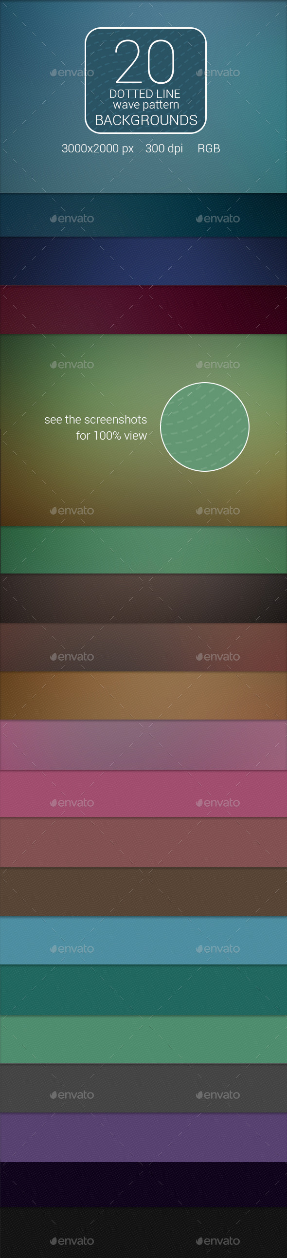 20 Dotted Line Wave Pattern Backgrounds - Backgrounds Graphics