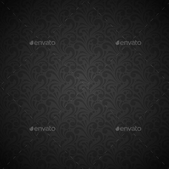 Black Seamless Pattern - Backgrounds Decorative