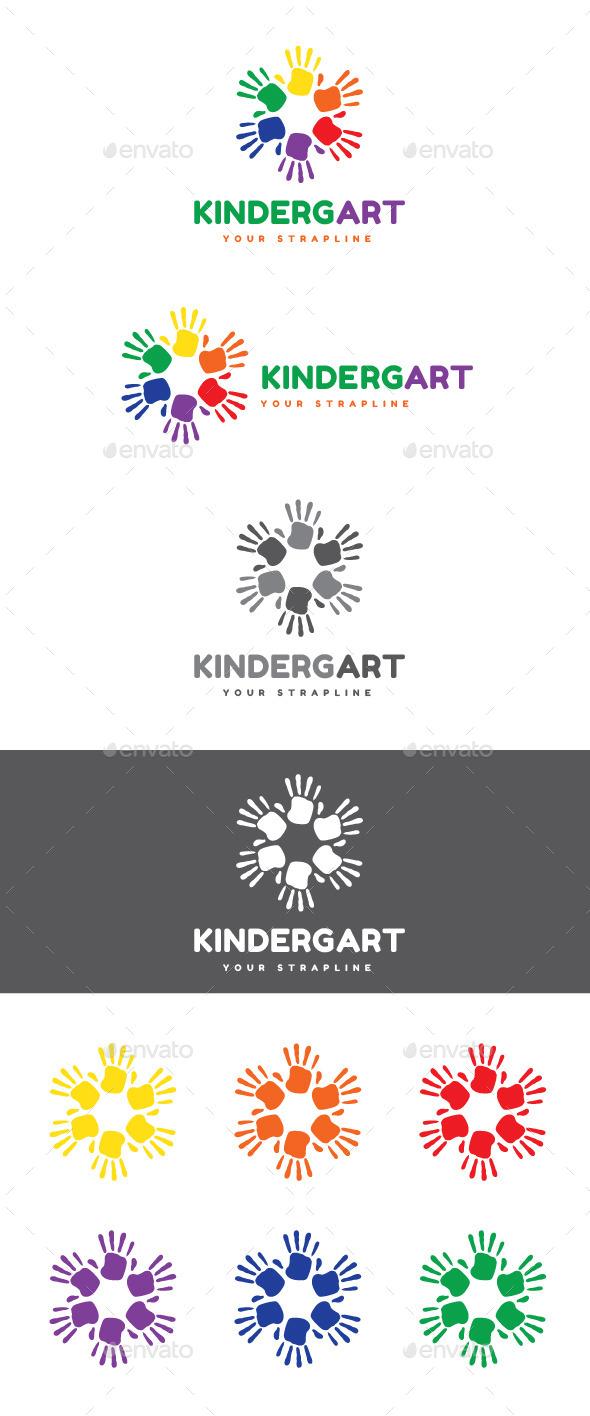 Kindergart Logo - Humans Logo Templates