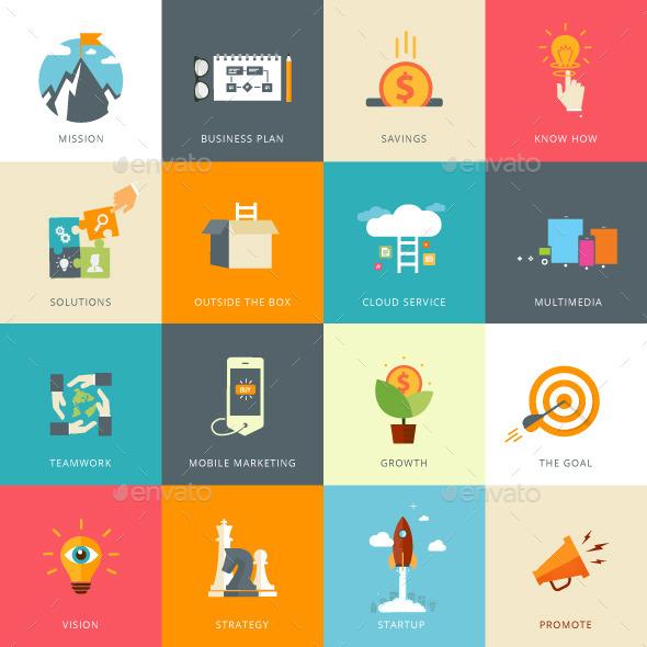 Flat Designed Business Concepts - Business Conceptual