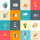 Flat Designed Business Concepts - GraphicRiver Item for Sale