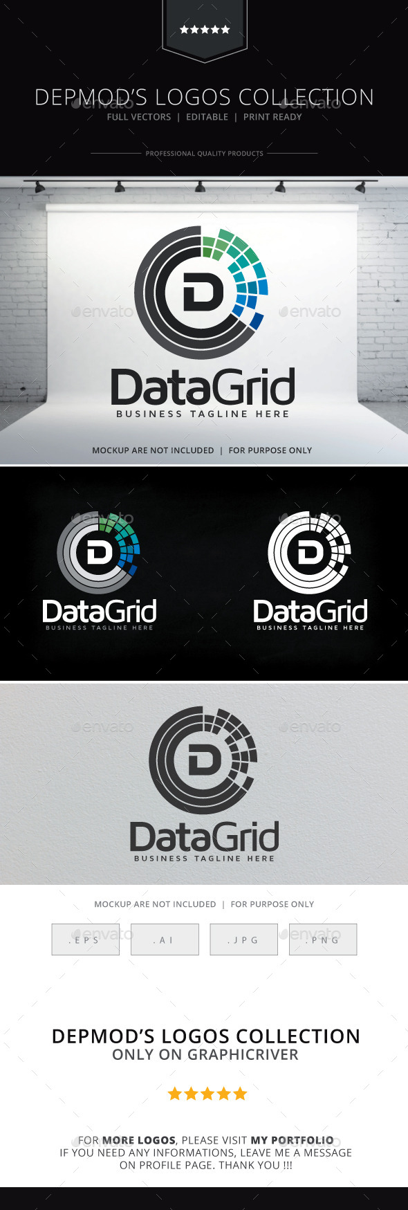 Data Grid Logo - Letters Logo Templates