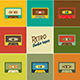 Retro Audio Tapes - GraphicRiver Item for Sale