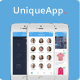 UniqueApp - Flat Mobile App UI Design - GraphicRiver Item for Sale