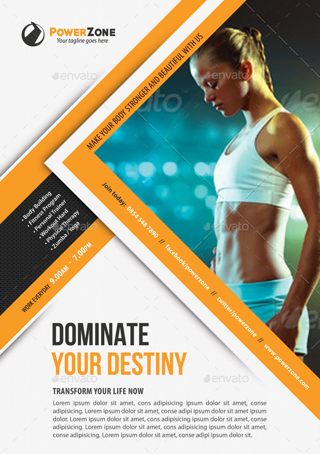 Sport Multipurpose Flyer 28 by rapidgraf | GraphicRiver