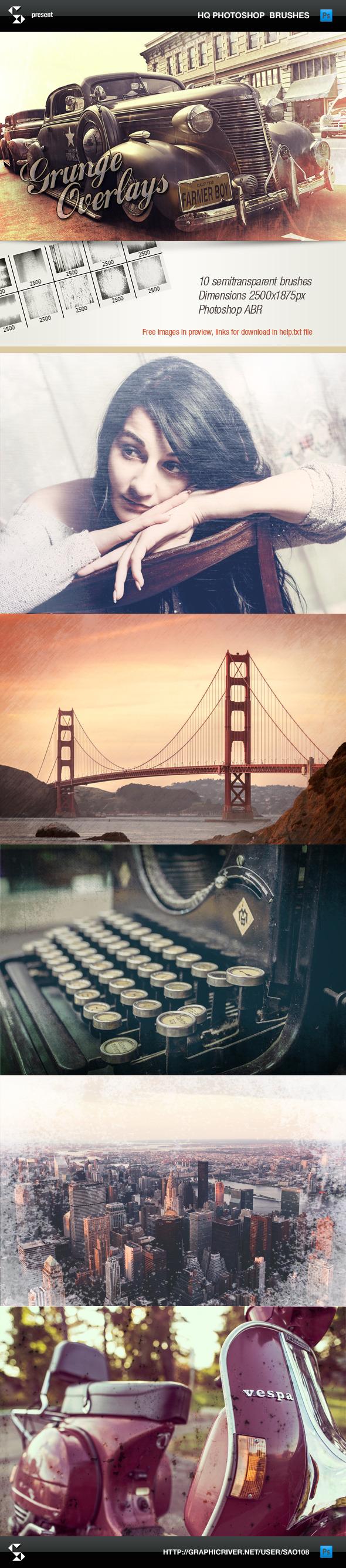 Grunge Overlays - Photoshop Brushes - Grunge Brushes
