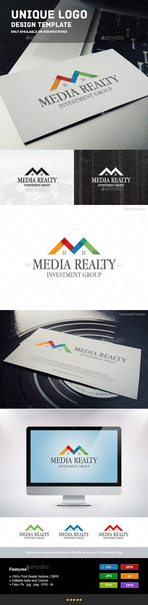 Media Realty Logo - Buildings Logo Templates