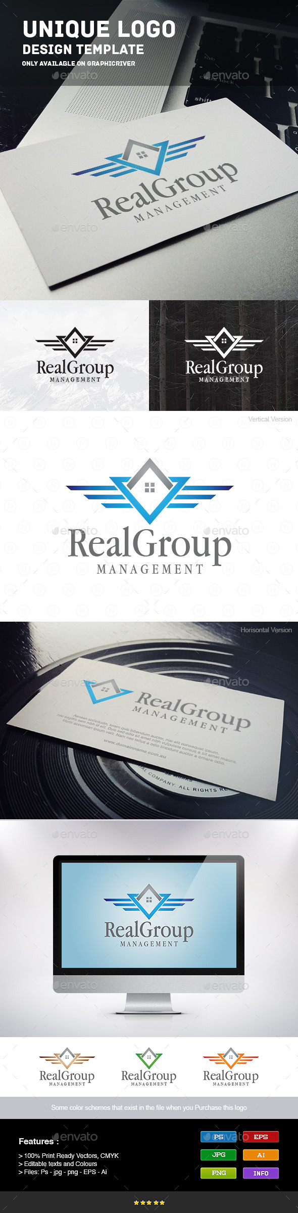 Real Group - Buildings Logo Templates