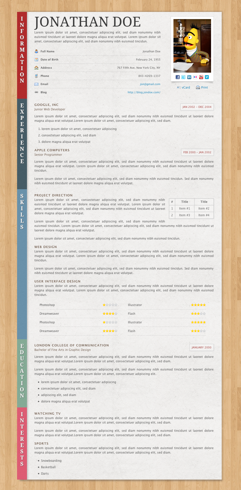 paper resume cv by norbiu themeforest