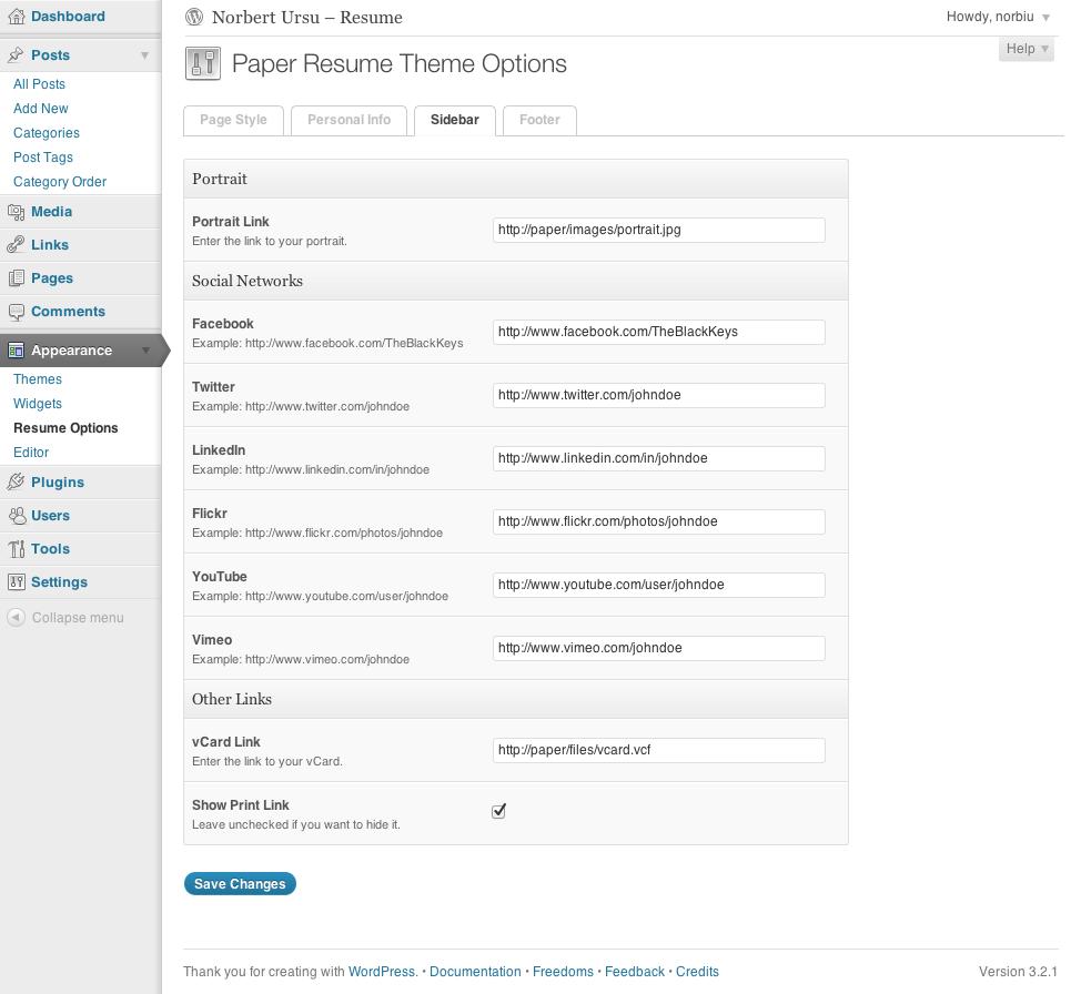 paper resume cv by norbiu themeforest