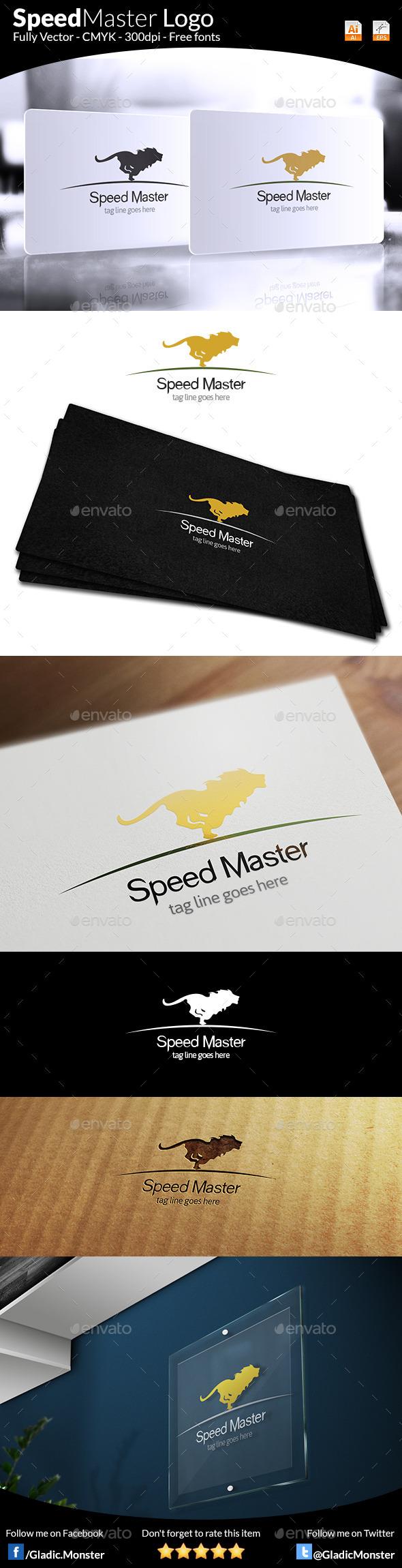 Speed Master Logo - Animals Logo Templates