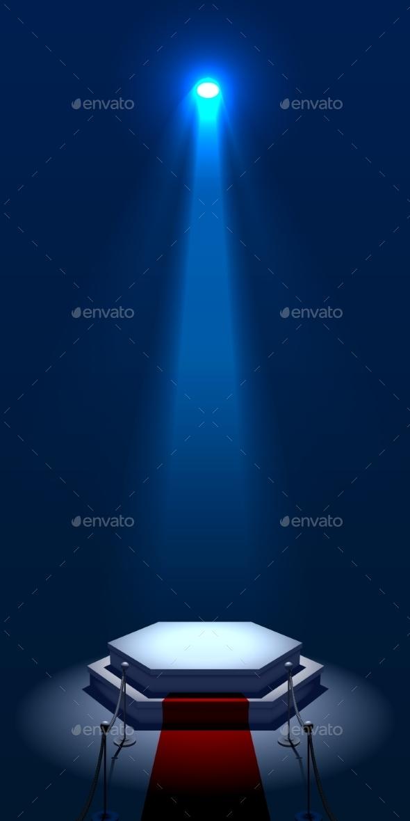 Illuminated Stage - Miscellaneous Vectors