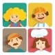 Flat Design People Avatar - GraphicRiver Item for Sale