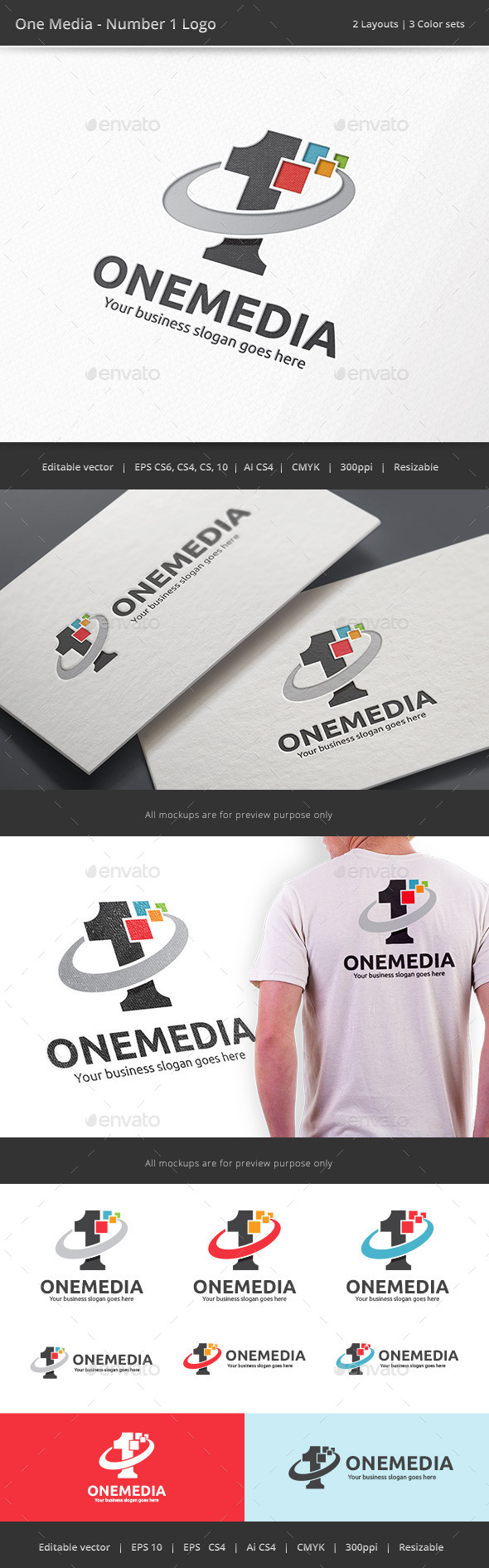 Number One Media Logo - Numbers Logo Templates