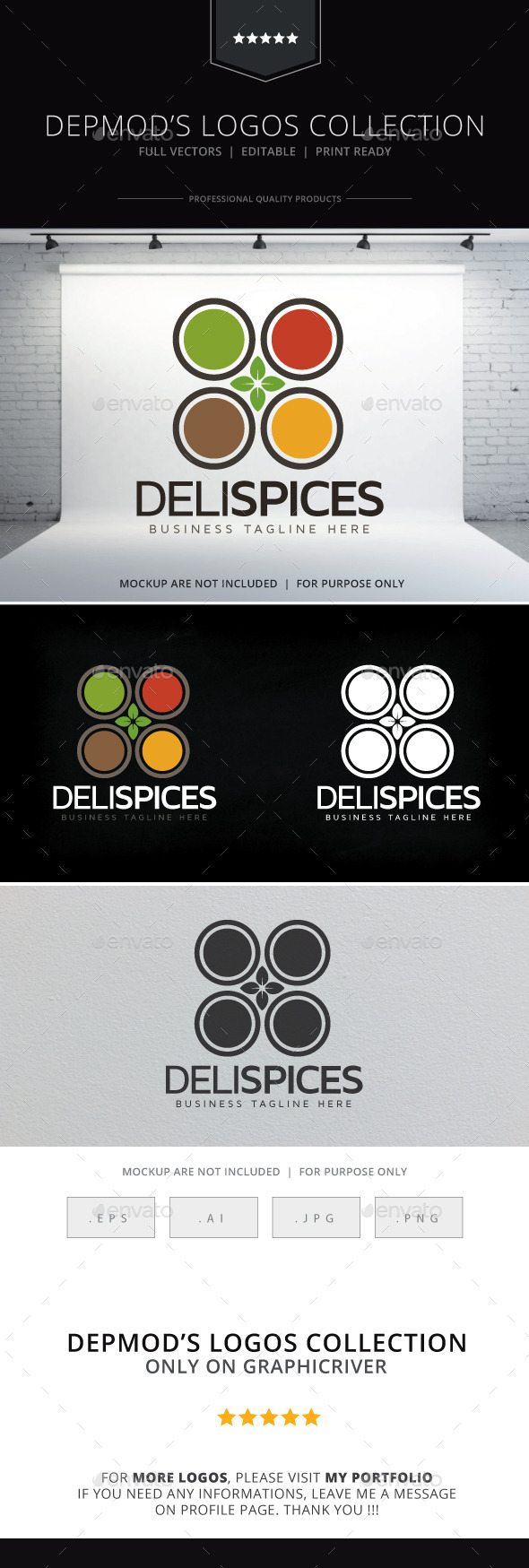 Deli Spices Logo - Food Logo Templates