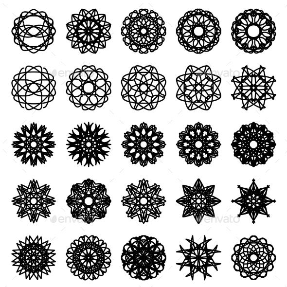 Round Ornament Set - Decorative Symbols Decorative