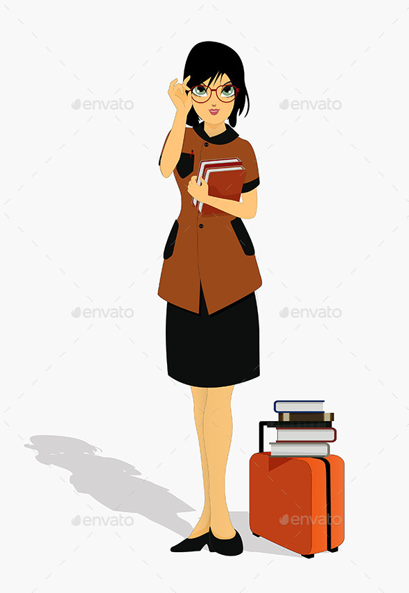 Woman holding a Book - People Characters