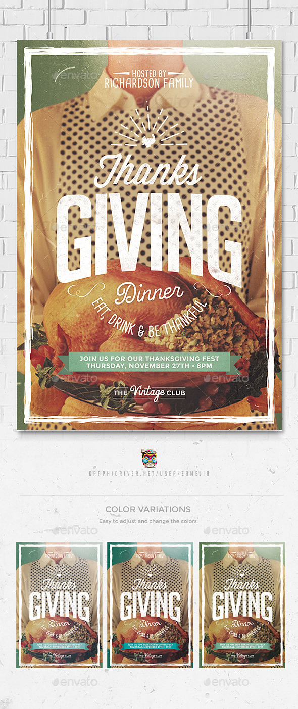 Thanksgiving Day Flyer Template - Holidays Events