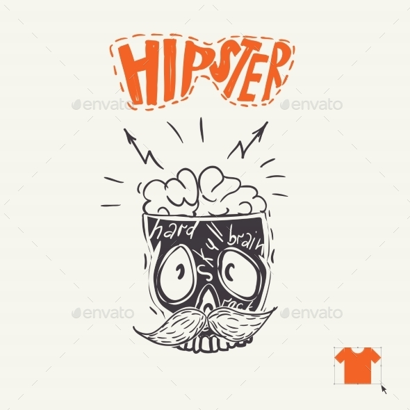Hipster Skull Background - Monsters Characters