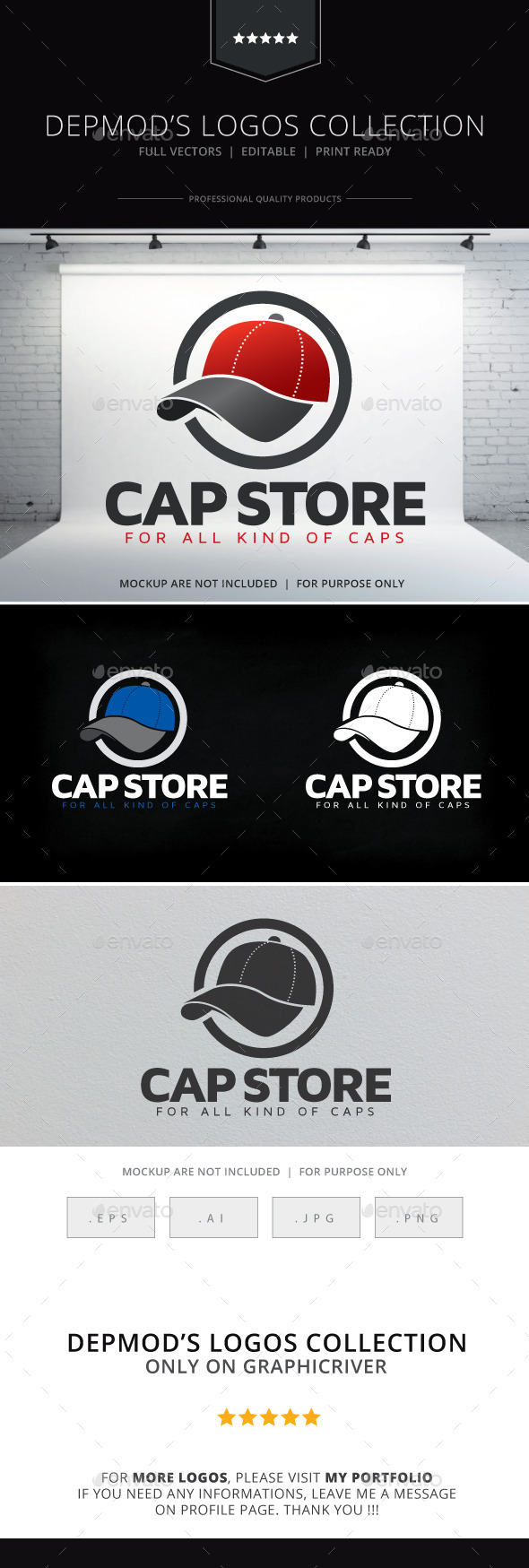 Cap Store Logo - Objects Logo Templates