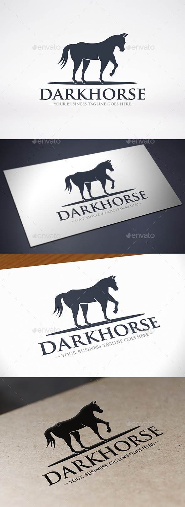 Black Horse Logo Template - Animals Logo Templates