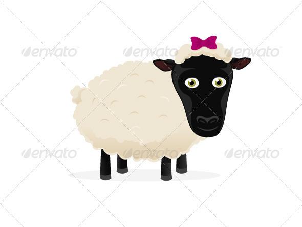 Cartoon Sheep - Animals Characters