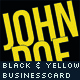 Simple Black Business Card - GraphicRiver Item for Sale