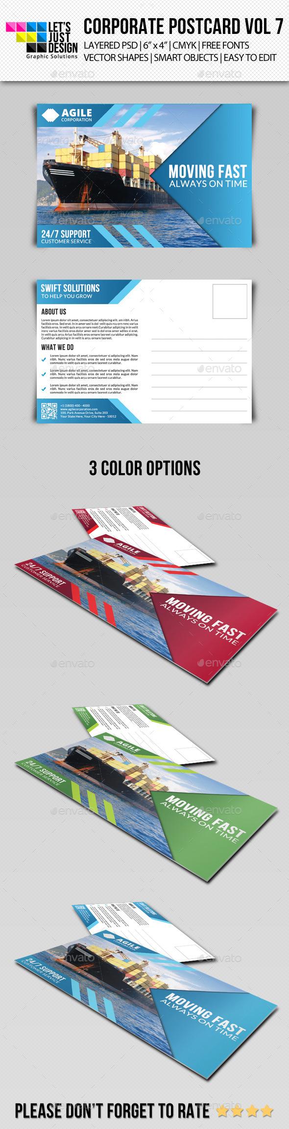 Corporate Postcard Template Vol 7 - Cards & Invites Print Templates