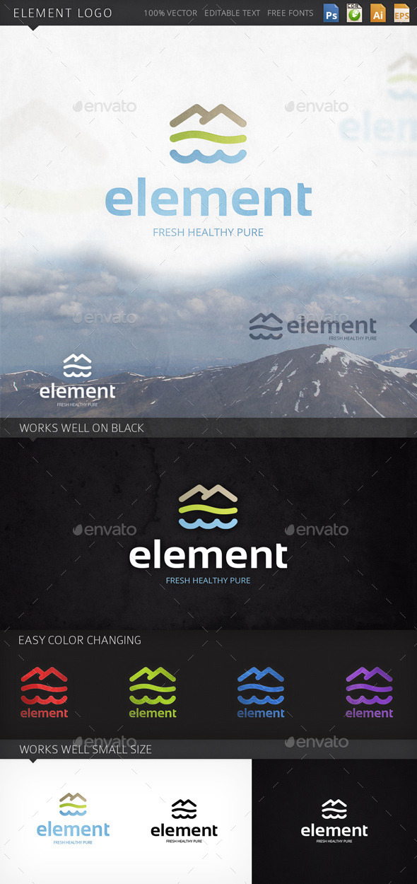 Element Nature Environment Logo Template - Nature Logo Templates