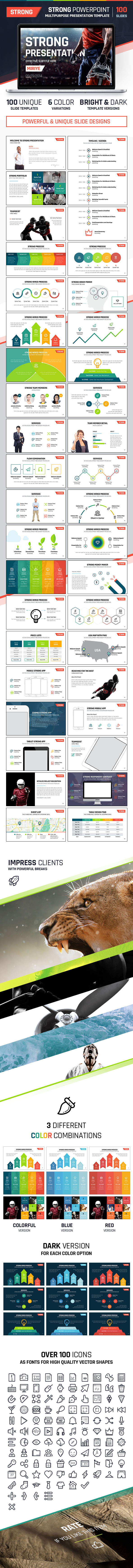 Strong PowerPoint - Multipurpose Presentation - PowerPoint Templates Presentation Templates