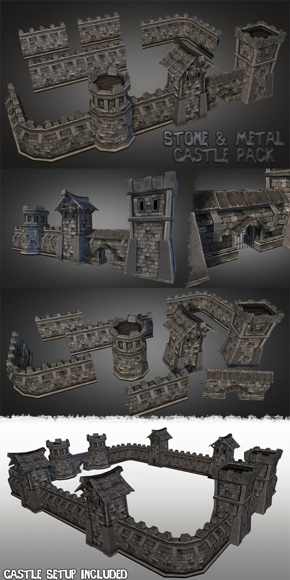 Fantasy Stone Castle Pack - 3DOcean Item for Sale