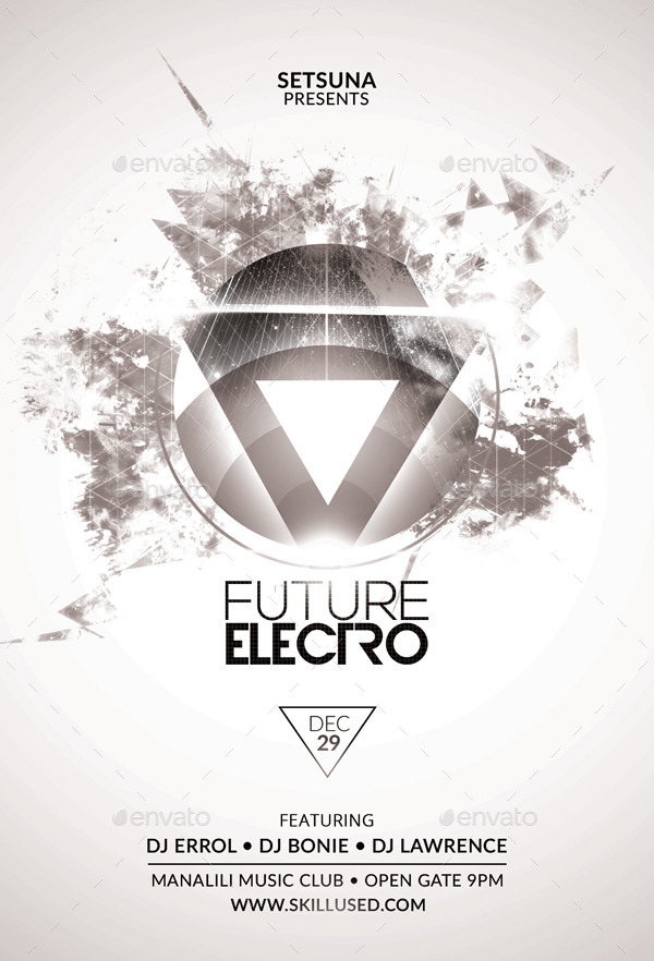Future Electro Flyer by bmanalil | GraphicRiver
