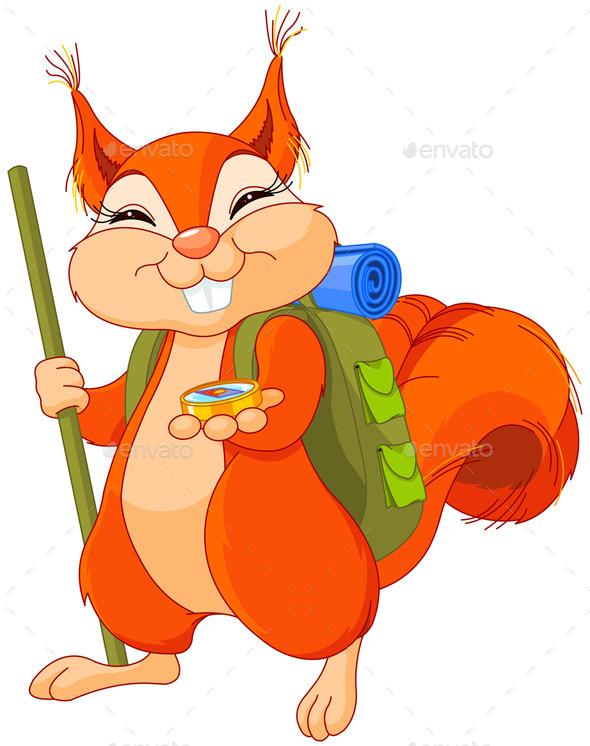 Squirrel Traveler - Animals Characters