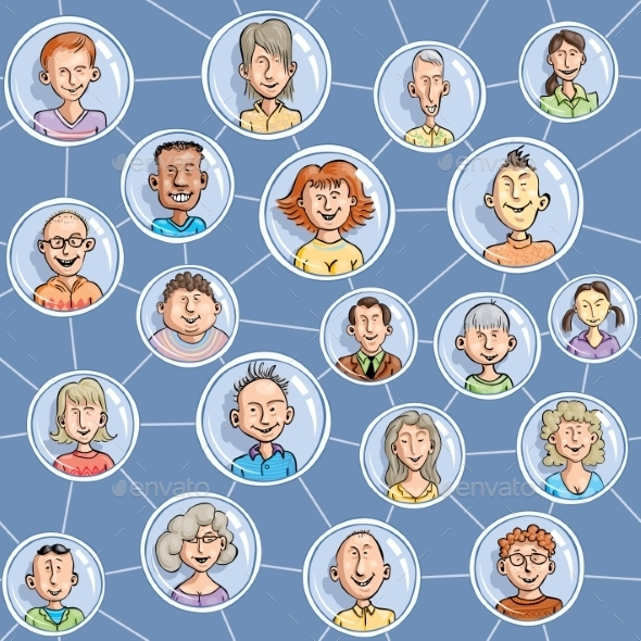 Seamless Social Network - People Characters