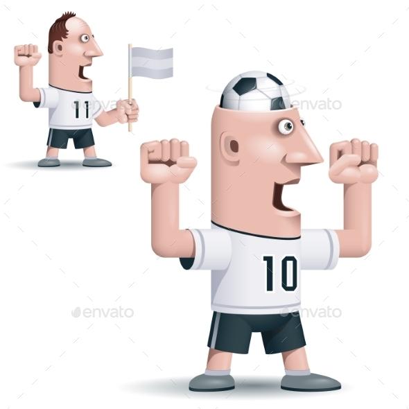 Soccer Fan - People Characters